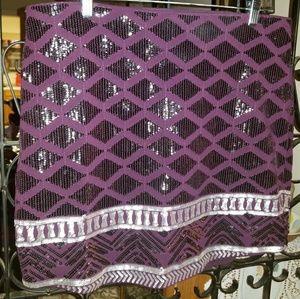 Express Aztec Sequin Pattern Skirt